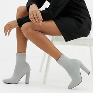*NEW* Grey ASOS Eleni Knit Sock Boots